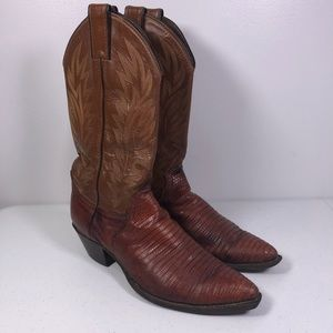 Justin L4734 Lizard Leather Western Cowboy Boots
